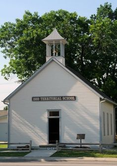 The 1889 Territorial Schoolhouse in Edmond was the first public school house in Oklahoma Territory. See this bit of history now taken care of by the Edmond Historical History on original schoolyard lots.