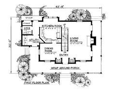 Farmhouse House Plan chp-50740 at COOLhouseplans.com