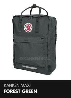 Kanken Maxi - Forest Green  http://www.ilovemykanken.com/shop/products/fjallraven-kanken-maxi-forest-green.htm