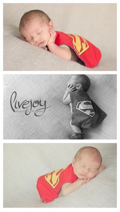 Superhero Newborn Photography, Superman Newborn Photography with LiveJoy Photography #Newborn #LiveJoyPhotography