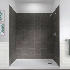 Shower Wall Kits, Shower Tub, Shower Ideas, Diy Shower, Walk In Shower Kits, Slate Shower, Bathroom Shower Panels, Shower Stalls, Shower Base