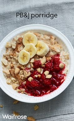 Enjoy a hearty breakfast of all our favourite things; porridge, peanut butter and jam! See the recipe on the Waitrose website.