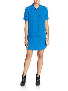 EQUIPMENT Remy Silk Shirtdress. #equipment #cloth #shirtdress