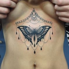Bejeweled butterfly by David Boterhoek. #torso #greywash #fave