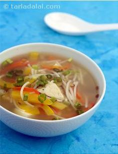 The use of plenty of vegetables and tofu lends an exotic flavour and lots of antioxidant i. e. Vitamin c, which helps fight infections. Serve this soup as soon as it is cooked to relish it the most.