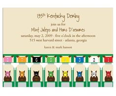 I want to have a Kentucky Derby party!