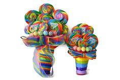 Rainbow Lollipop Bridesmaid Bouquet, Maid of Honor Bouquet, Rainbow Bouquet, Wedding, Rainbow, Candy Bouquet, Lollipop Bouquet
