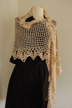 Vintage Crochet Shawl:  Love this.  Only one problem, pattern is in Japanese.  This could happen to me, HA!!!