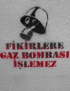 Fikirlere gaz bombası işlemez! / Taksim #istanbulsokak #duvarlaraozgurluk #istanbulstreetart #sokaksanatı #streetart #graffiti #stencil #wallart #mural #sticker #streetwriting #urban #urbanart #istanbul #beyoglu #kadikoy #besiktas #turkiye #art #vforvendetta #vendetta #ideas #direngezi #direngeziparki #teargas #occupygezi