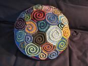Spiral Freeform Pillow, above, by stringamajig (Lisa) is a feast of inventiveness.