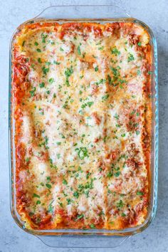 Easiest Lasagna Ever - Nothing beats classic lasagna. And this is the easiest recipe you will ever make. It can be made ahead and it's freezer-friendly too!