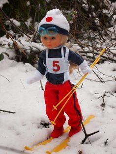 Nancy esquiadora en la nieve
