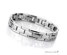 Edelstahl MAGNET  Armband TREND 2014  im Schmuck Etui
