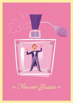 Grand Budapest Hotel Wes Anderson by lorenzomontatore on Etsy, £15.00