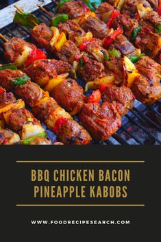 BBQ Chicken Bacon Pineapple Kabobs - 1 of your finest recipes to generate for your personal barbecue social gathering. Honey Sriracha Chicken Wings, Honey Garlic Pork Chops, Baked Chicken Wings, Chicken Bacon, Bbq Chicken, Chicken Recipes, Chicken Kabobs, Pineapple Kabobs, Pineapple Recipes