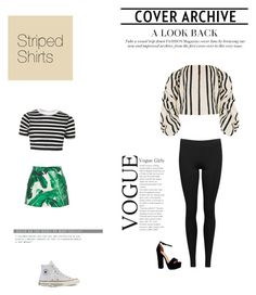 """""""Striped Shirts"""" by kpopqueen on Polyvore featuring Johanna Ortiz, Vince, Dolce&Gabbana, Topshop, Converse, Boohoo and stripedshirt"""