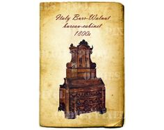 Vintage Furniture 1800s Italy Burr Walnut Bureau by OldiesPixel, $3.25