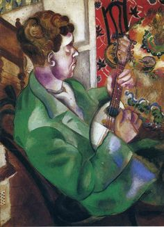 'David profile', 1914 - Chagall