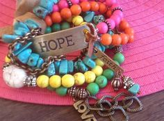 FaiTH HoPe LoVe SuMMeR BoHo STaCK/ ARM PaRTY/ Women's by Ivanwerks, $62.00