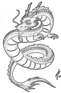 Free coloring page «coloring-adult-simple-chinese-dragon