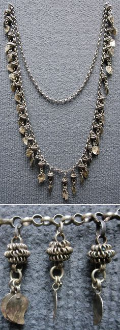 Silver alloy necklace, ca. 1920s. Kurdish, probably from Iraqi Kurdistan. (Inv.n° müç052 - Kavak Costume Collection, Antwerpen/Belgium).