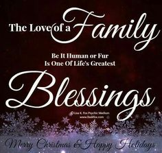 This is so true...once again I've been blessed with a loving family.