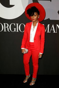 Janelle Monae at the Grammys after-party