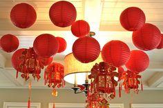 Red lanterns and tassels