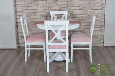 Meja Makan Minimalis Warna Putih Dari Kayu Berkualitas – Home Decor Furniture Dining Chairs, Shabby Chic, Diy, Furniture, Home Decor, Little Cottages, Decoration Home, Bricolage, Room Decor