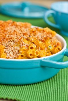 Butternut Squash Mac 'n Cheeze - really healthy made with nutritional yeast. It's a vegan recipe that still taste rich... so yummy. Plus you get a nice hit of B12 from the nutritional yeast!