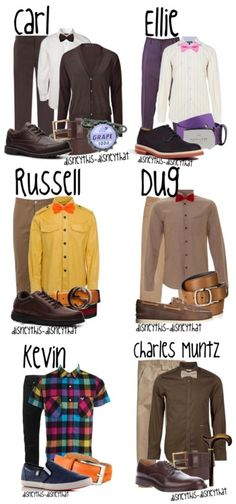 """Up"" Men's Collection! I so wish I could get Andrew to wear an Ellie inspired outfit, haha."