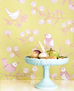 Sugar Tree Wallpaper by Nubie Modern Kids Boutique, the perfect gift for Explore more unique gifts in our curated marketplace. Bird Wallpaper, Wallpaper Paste, Pattern Wallpaper, Scandinavian Wallpaper, Wallpaper Companies, Stunning Wallpapers, Kids Boutique, Modern Kids, Green Backgrounds