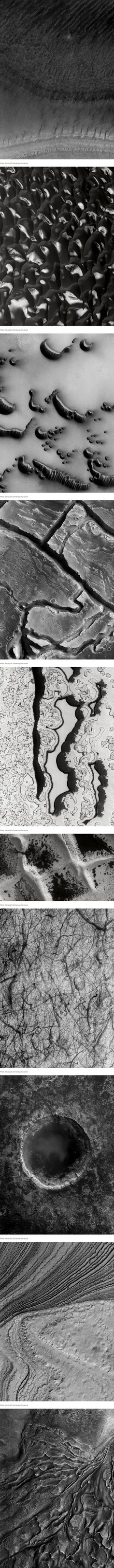 Stunning Photos of the Red Planet in Black and White by NASA JPL University of Arizona wired.com