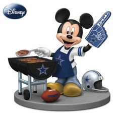 Disney Mickey Mouse Figurine: Dallas Cowboys Fired Up For A Win