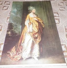 Mrs. Grace Dalrymple Elliott Gainsborough Metropolitan Museum of Art NCAA Print #Vintage