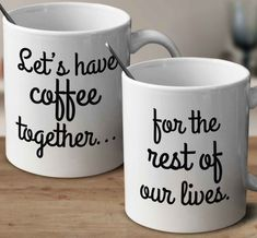Adorable Sweet Gifts for Couples! Let's Have Coffee Together – mug-empire