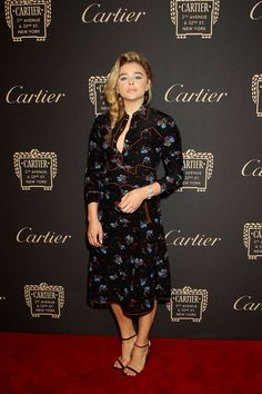 CHLOE MORETZ at Cartier Store Reopening on Fifth Avenue in New York 09/07/2016