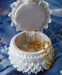 JOYERO-Handmade Jewelry Box Angel. by KanzashiAccessories on Etsy