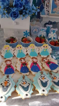 The cookies at this Frozen (Disney) Birthday Party are adorable! See more  party ideas and share yours at CatchMyParty.com  catchmyparty   frozenbirthdayparty ... fba3deaa99d74