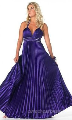 Absolutely gorgeous paper fold style prom dress with beaded straps!