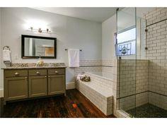 subway tile bathroom!