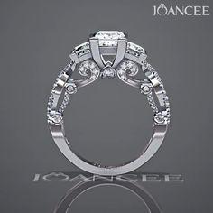 Diamond Jewelry, Jewelry Rings, Jewelery, Silver Jewelry, Jewelry Accessories, Jewelry Design, 3 Stone Engagement Rings, Beautiful Engagement Rings, Beautiful Rings
