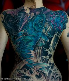 Gorgeous blue and purple koi ~ Sexy