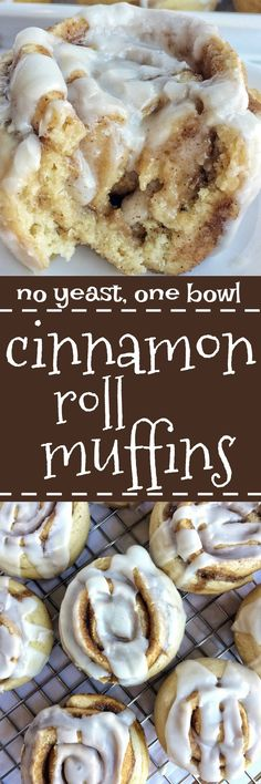 These no yeast cinnamon roll muffins are so easy to make and they only require one bowl! All the flavor, gooey cinnamon & sugar, and sweetness that you love about a cinnamon roll, but in an easy to make muffin.