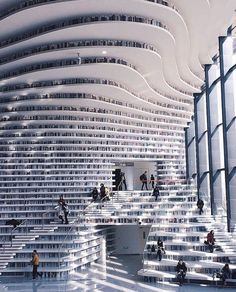 Tianjin Binhai Library by MVRDV (i.it) submitted by PM_ME_BOOBPIX to /r/ArchitecturePorn 0 comments original - Architecture and Home Decor - Buildings - Bedrooms - Bathrooms - Kitchen And Living Room Interior Design Decorating Ideas - Tianjin, Library Architecture, Interior Architecture, Interior Design, Ikea Interior, Beautiful Library, Dream Library, Beautiful Architecture, Skyscraper