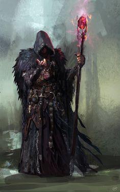 """Sorcerer Final, Jose Afonso """"eSkwaad"""" on ArtStation at https://www.artstation.com/artwork/vDKWd"""