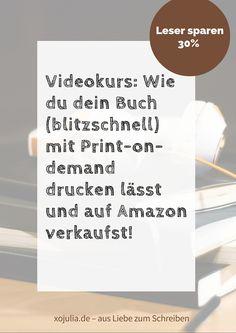 Mein erster Udemy-Videokurs online! Wie du dein Buch für ein paar Euro drucken lässt und bei Amazon verkaufst: mit genauen Video-Anleitungen, Quellen für kostenlose Bilder, Formatvorlage zum Herunterladen und, und, und, hier mal ein genauerer Überblick über das, was du in meinem Kurs lernst: Ein Buch über print on demand drucken, veröffentlichen und bei Amazon...Read More »