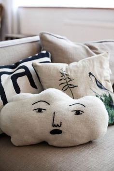 Linen Pillows + embroidery