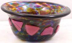 Oregon-Art-Glass-Bowl-Shard-Glass-Design-Signed-Henry-Vitra-96
