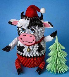 Christmas crafts made of modular origami